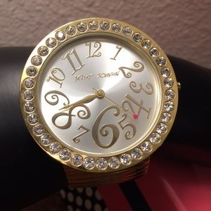 Betsey Johnson bling watch - needs battery
